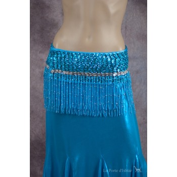 Ceinture Belly Dance, turquoise